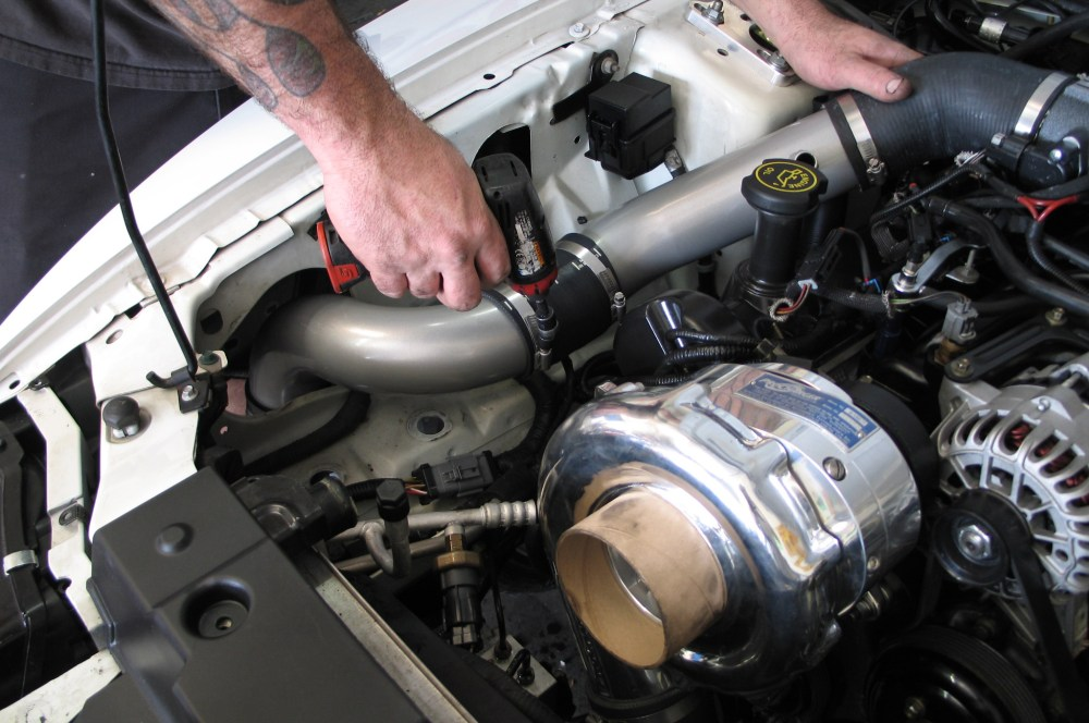 medium resolution of in the engine compartment the air ducting goes together quickly as the maf is in the inner fender other chores in this area are to slightly bend one of