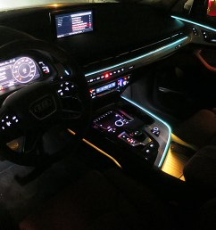 crisp lines of ambient lighting accent the cockpit and the color of these lines and [ 2048 x 1360 Pixel ]