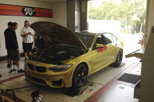 small resolution of on the rollers we dyno the 2015 bmw m3 and the last gen m3