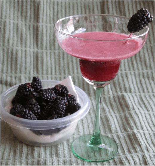 Skinny Blackberry Margarita; Enticing Healthy Eating