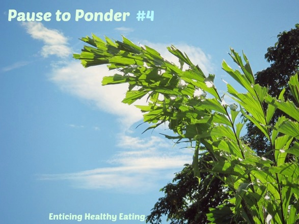 Pause to Ponder #4; Enticing Healthy Eating
