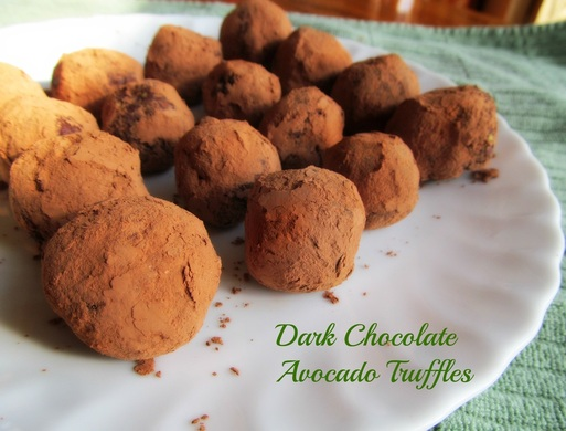 Dark Chocolate Avocado Truffles; Enticing Healthy Eating