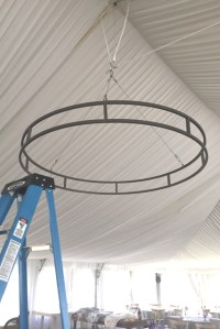 Circle Chandelier - attach your oasis to this sturdy 5 ...