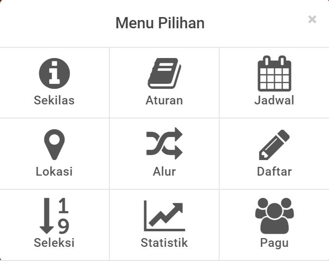 menu laman pendaftaran ppdb sma smk