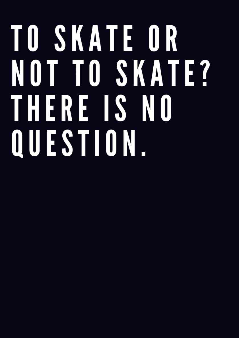 To skate or not to skate_ There is no question.