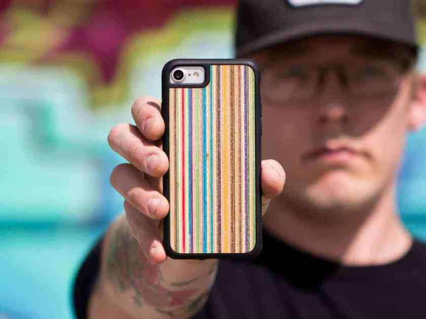 recycled skateboard phone case