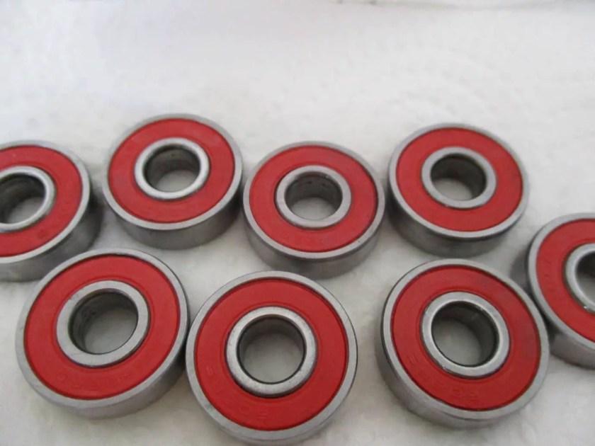 clean skateboard bearing 12