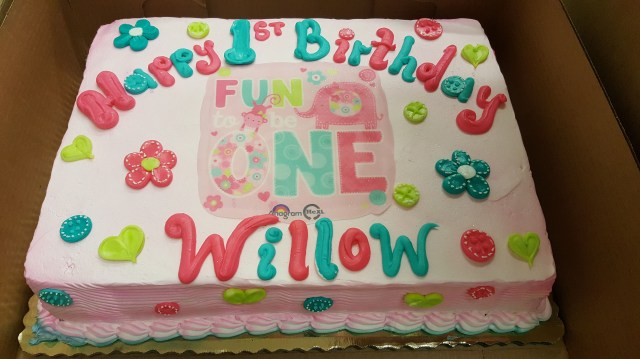 1 Birthday Cake Its Fun To Be One Girls 1st Sheet Calumet Bakery