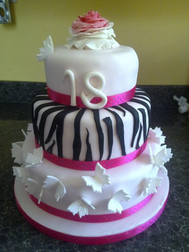 18 Birthday Cakes Girly 18th Birthday Cake 18th Birthday Cake For A Friends Flickr