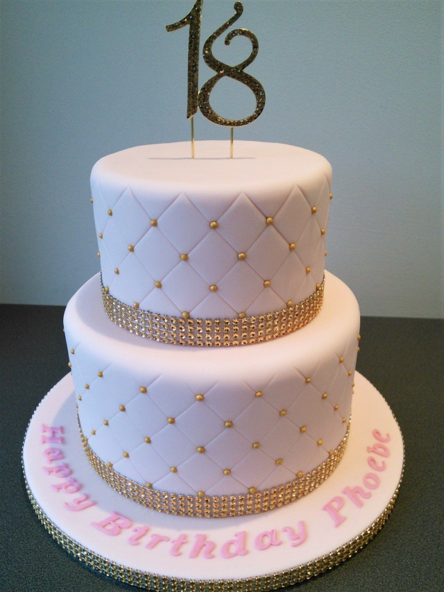 18 Birthday Cakes Pink And Gold Quilted 18th Birthday Cake 18th Birthday Cake