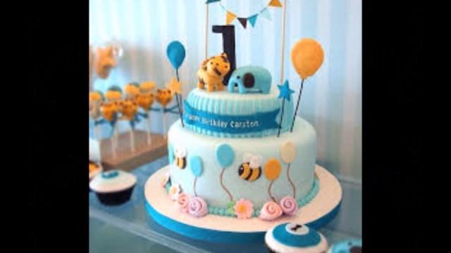 1St Birthday Cake Boy Ba Boy 1st Birthday Cake Photos Youtube