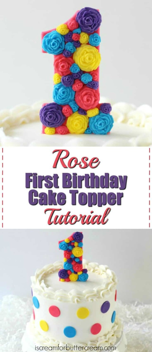 1St Birthday Cakes Girl 3 Diy First Birthday Cake Toppers For Girls I Scream For Buttercream