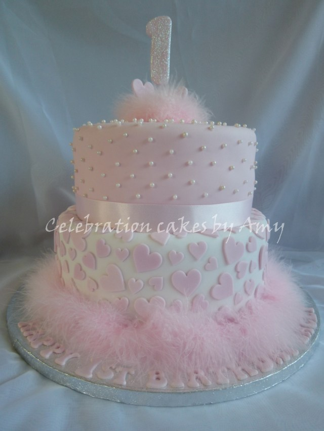 1St Birthday Cakes Girl 8 Elegant Girls First Birthday Cakes Photo Little Girls 1st