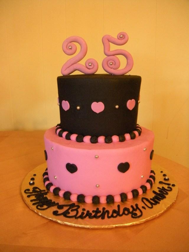 25Th Birthday Cake 25th Birthday Cake Main Made Custom Cakes