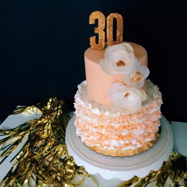 30Th Birthday Cake Ideas Ruffle 30th Birthday Cake Cakecentral