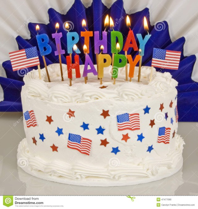 4Th Of July Birthday Cakes Patriotic 4th Of July Birthday Cake Stock Photo Image Of Holiday