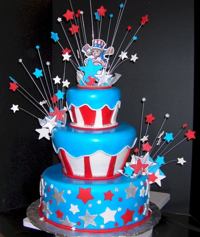 4Th Of July Birthday Cakes Star Spangled Supper 4th Of July Cake Cakecentral