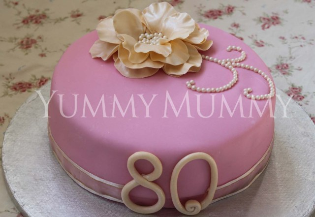 80Th Birthday Cake 80th Birthday Cake Yummy Mummy