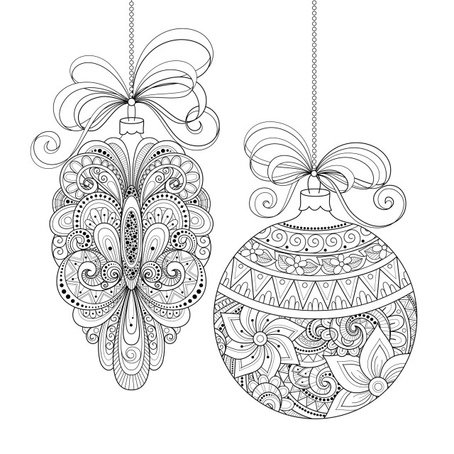 Adult Christmas Coloring Pages Christmas Ornaments Christmas Adult Coloring Pages