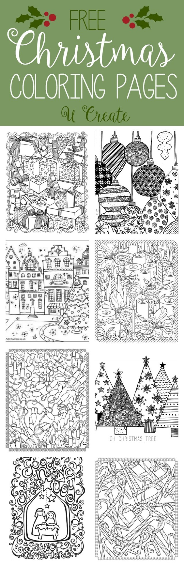 Adult Christmas Coloring Pages Free Christmas Adult Coloring Pages U Create