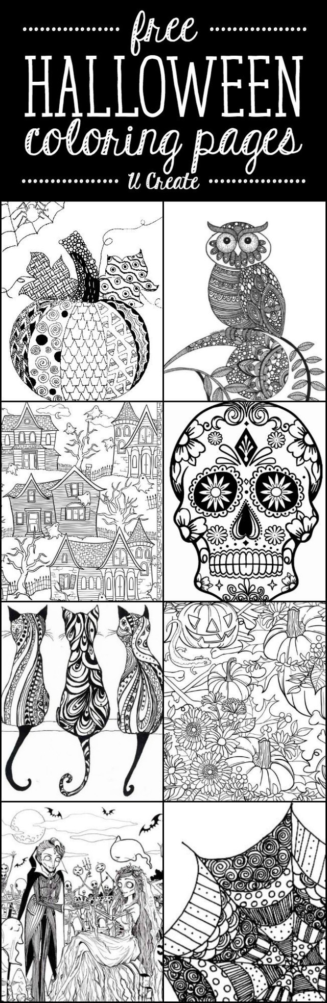 Adult Coloring Pages To Print Free Halloween Adult Coloring Pages U Create
