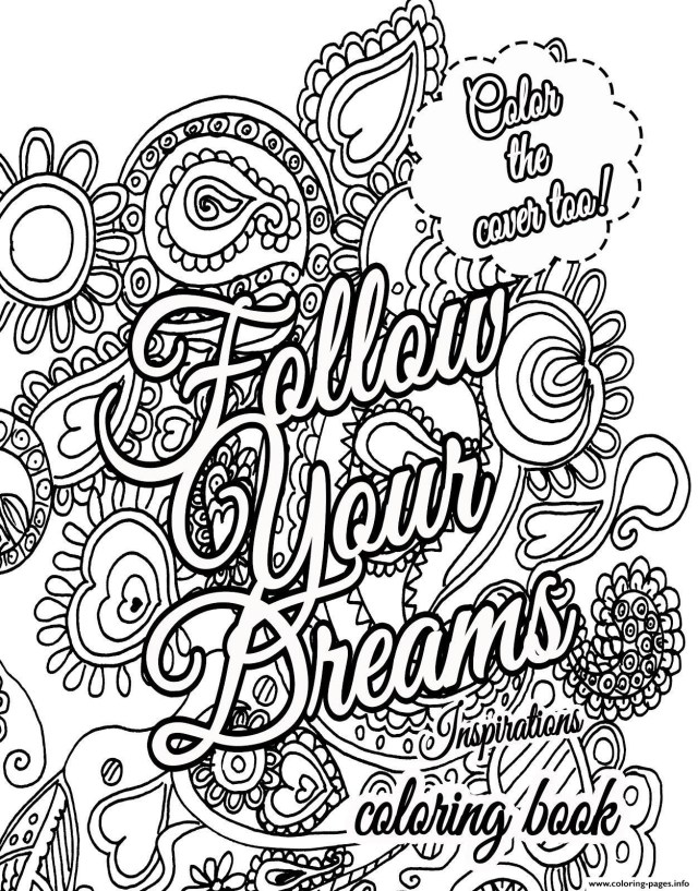 Adult Coloring Pages To Print Quote About Dream For Adults Coloring Pages Printable New With