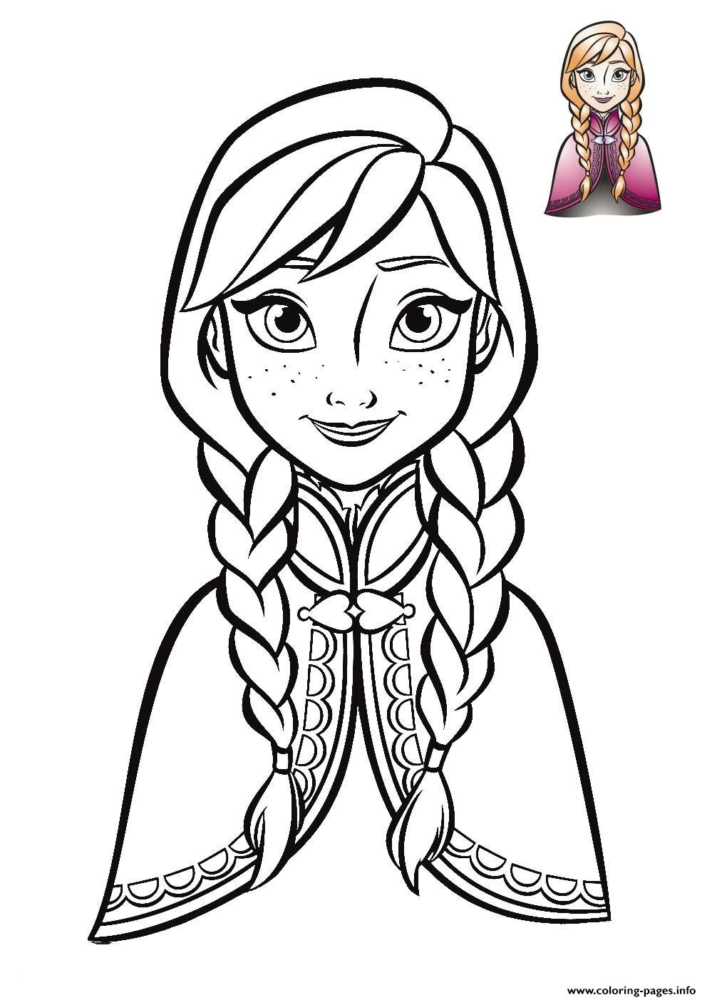 Anna Coloring Pages Anna Frozen Face 2018 Coloring Pages ...