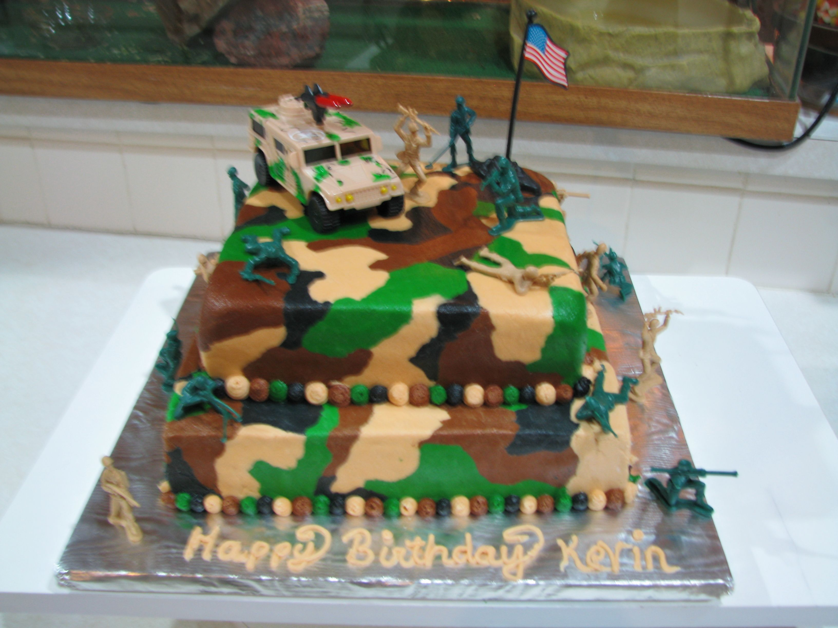 32 Excellent Picture Of Army Birthday Cakes