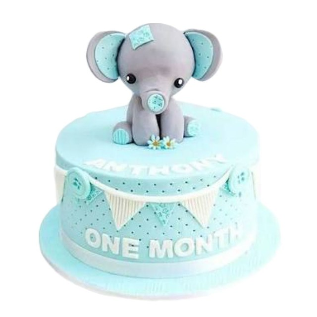 Baby Birthday Cake Ba Elephant Birthday Cake