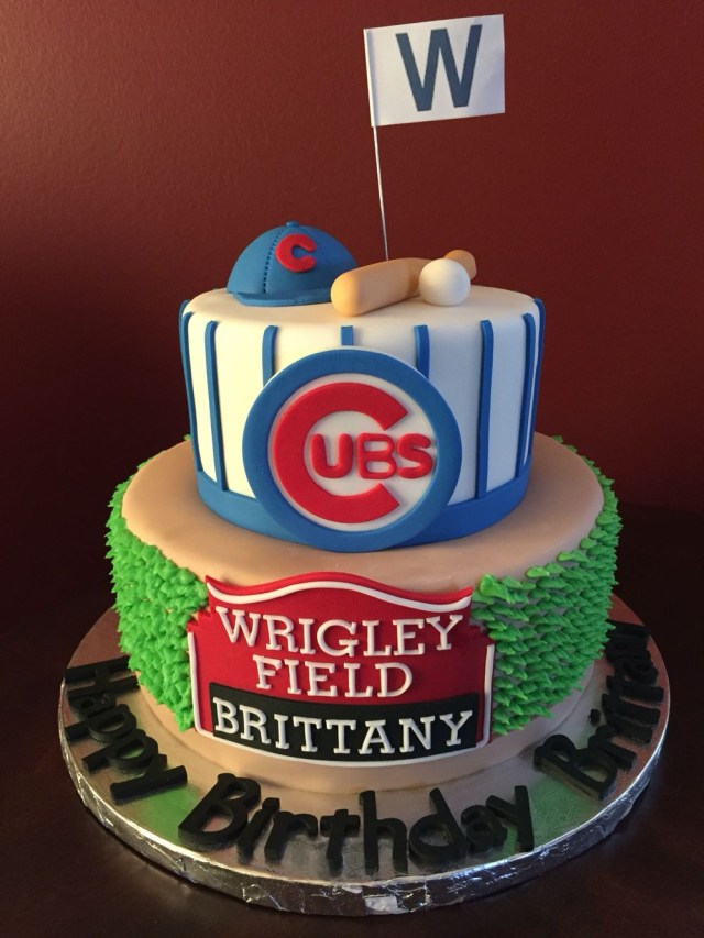 Baseball Birthday Cakes Chicago Cubs Birthday Cake Birthday Cakes Birthday Cubs Cake