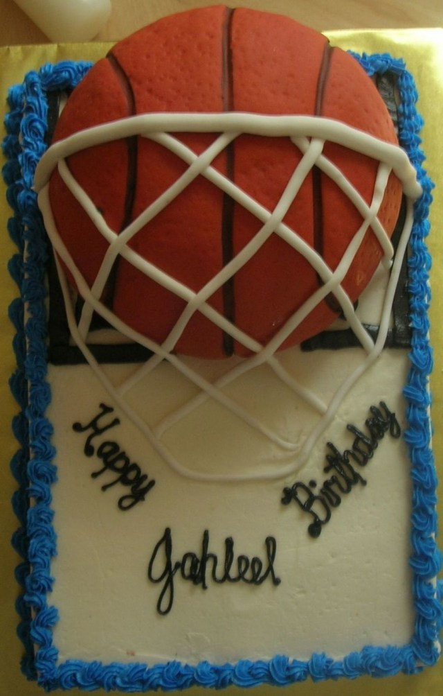 Basketball Birthday Cakes Basketball Birthday Cake Cakecentral