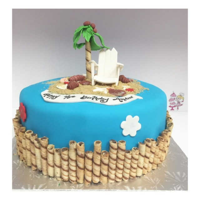 Beach Birthday Cake Adult Birthday Cakes Cristinas Tortina Shop