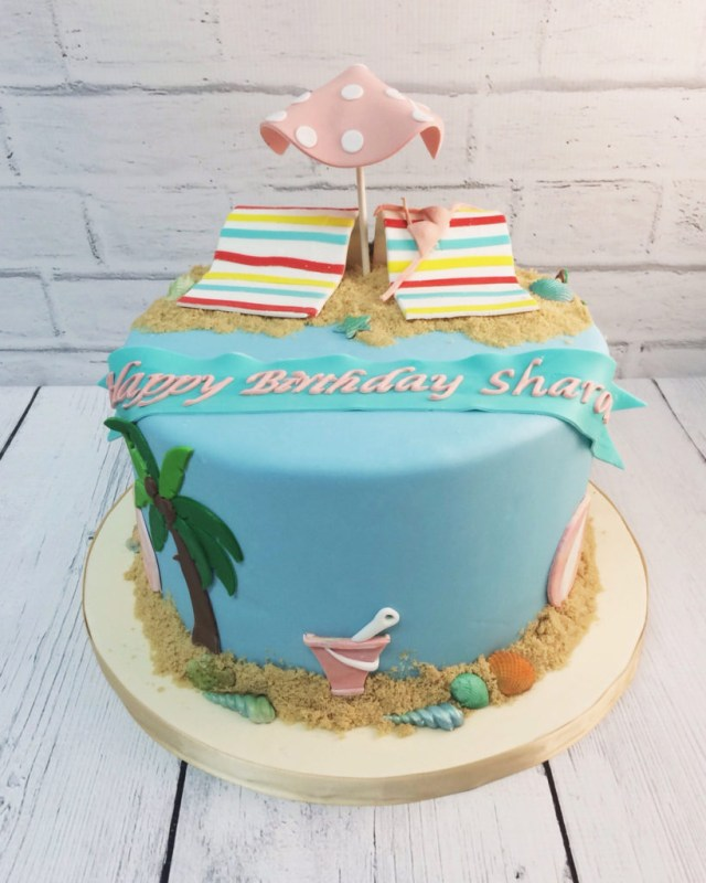 Beach Birthday Cake Nashville Sweets Beach Birthday Cake