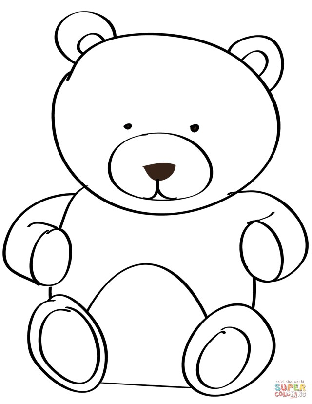 Bear Coloring Pages Teddy Bear Coloring Pages Free Coloring Pages