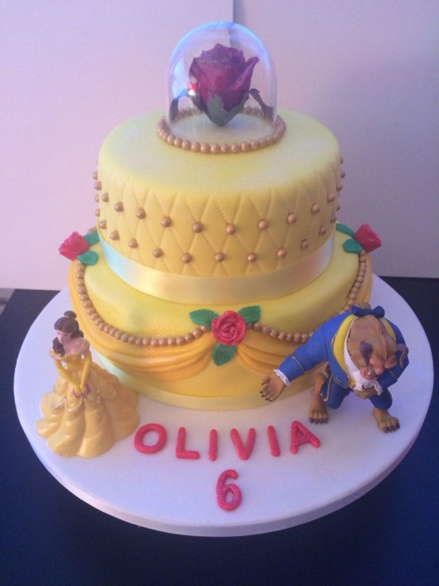 Belle Birthday Cake Beauty The Beast Cake Saves Pinte