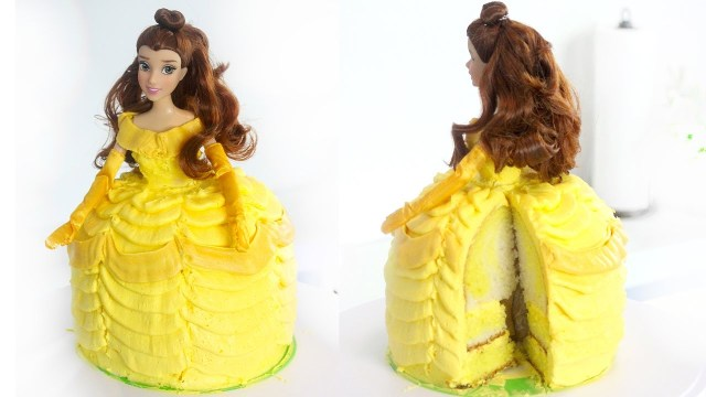 Belle Birthday Cake Belle Cake Beauty And The Beast Recipe Youtube
