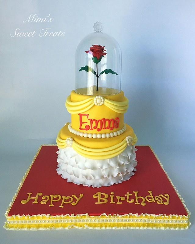 Belle Birthday Cake Disneys Beauty And The Beast Princess Belle Birthday Cake Truly