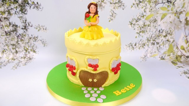 Belle Birthday Cake How To Make A Princess Belle And Castle Cake Youtube