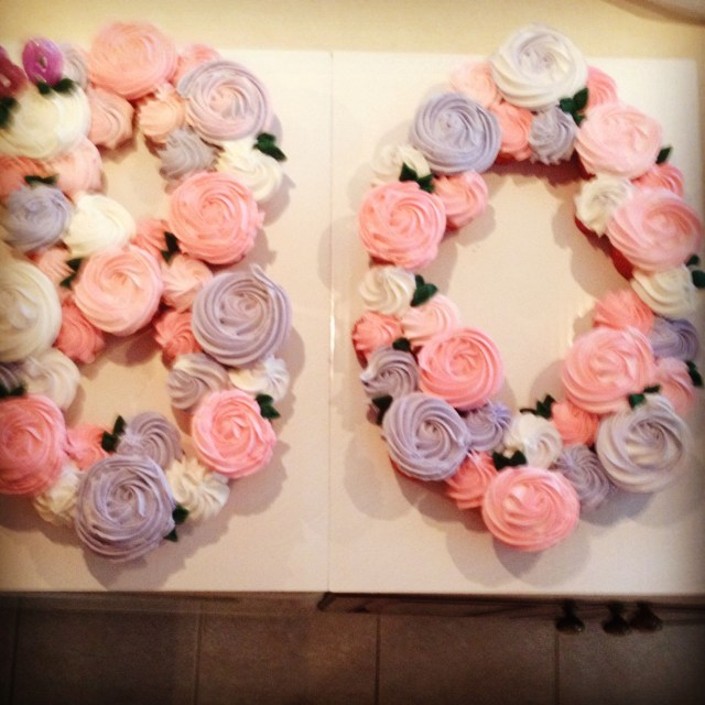 Birthday Cake Cupcakes Cupcake Cake 80th Birthday Works For Any Numbers Cake In 2019
