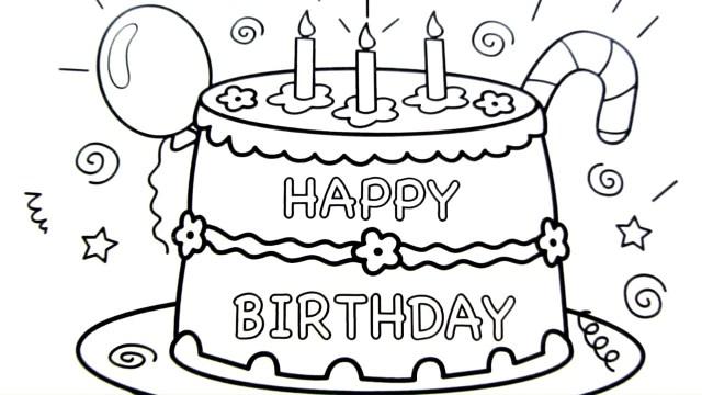 Birthday Cake Drawing Birthday Cake Drawing Happy Holidays