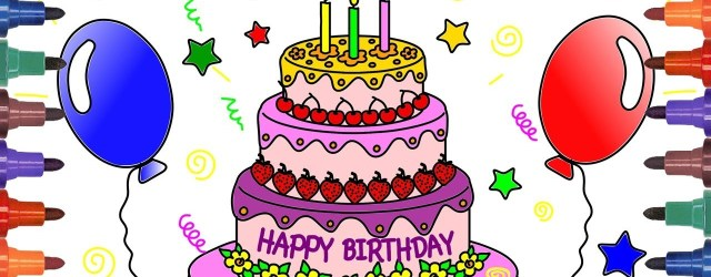 Birthday Cake Drawing How To Draw Birthday Cake Drawing For Kids Coloring Pages For