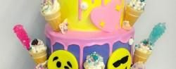 Birthday Cake Emoji Emoji Drip Cake Desserts Cakes Cookies Etc Pinterest Cake
