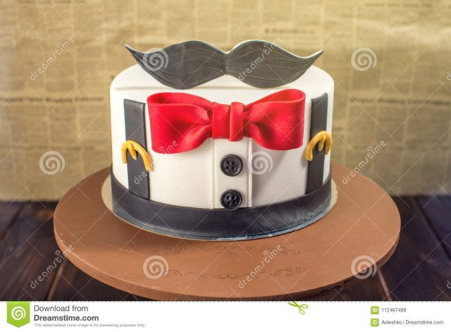 Birthday Cake For Men Beautiful Cake For Men Decorated In The Form Of A Suit With A Bow
