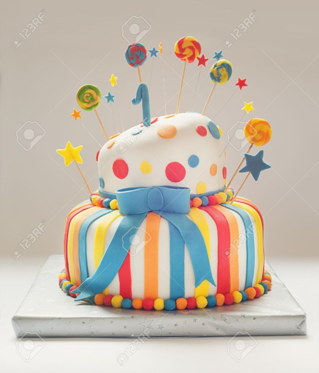 Birthday Cake Funny Funny Birthday Cake With Number One On Top Sweet Colorful Decoration