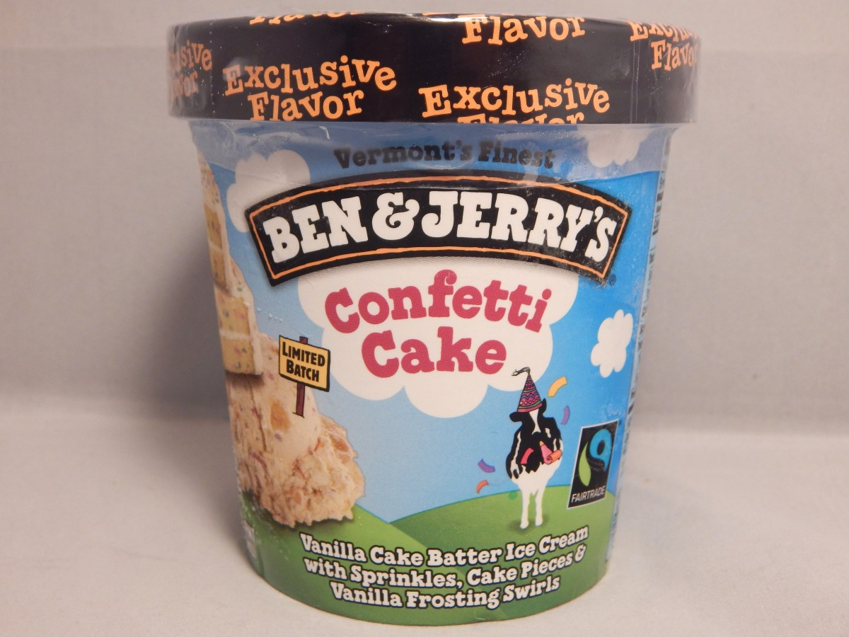 Birthday Cake Ice Cream Flavor Review Ben Jerrys Limited Batch Confetti Snack