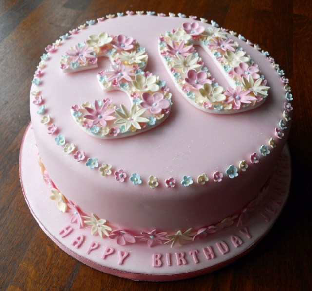 Birthday Cake Ideas For Women Flowery 30th Birthday Cake Fun Cakes Pinterest 30 Birthday