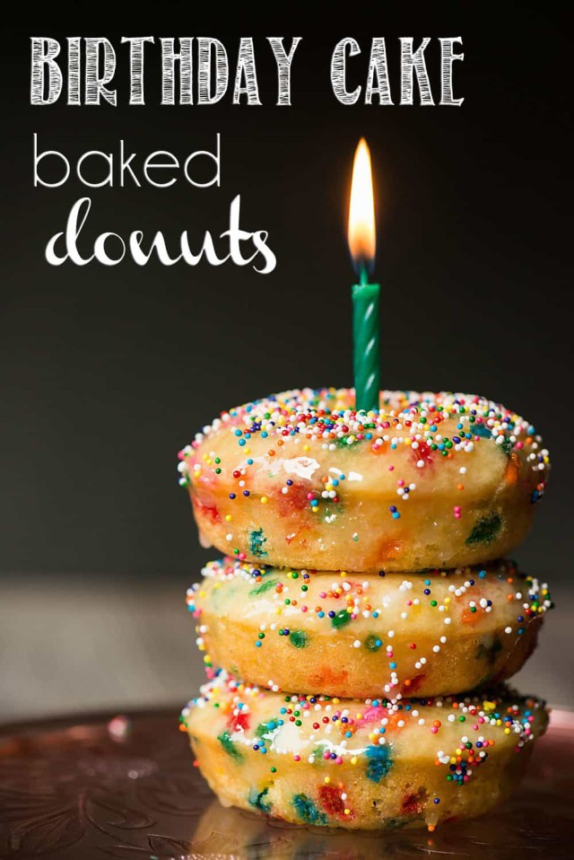 Birthday Cake Image Birthday Cake Baked Donuts Recipe Video Self Proclaimed Foodie
