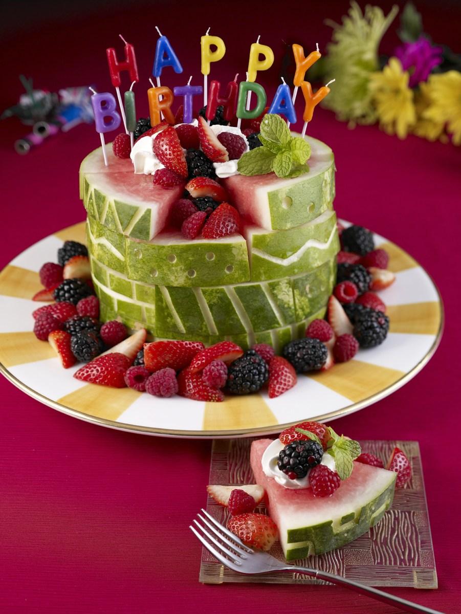 Birthday Cake Image Watermelon Board Birthday Cake