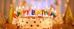 Birthday Cake With Candles Happy Birthday Cake With Candles Stock Photo Picture And Royalty