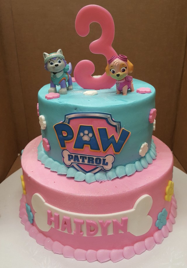 Birthday Cakes For Girls Calumet Bakery Girls Paw Patrol Cake Girls Decorated Cakes Paw